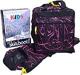 Kids Ski Bag and Boot Bag Set - Pink Print