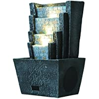 Sharper Image SBT639GY Fountain Lights Bluetooth Speaker with Water and Lights Remote Controlled