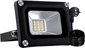 Foco LED Con Enchufe, Reflector Foco Proyector LED para Exteriores ...