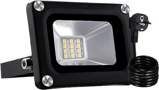 10W Kaltweiß LED Fluter mit Bewegungsmelder Außen Strahler Flutlicht Lampe IP65