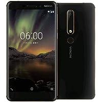"Nokia 6.1 (2018) 4G LTE, 32GB/3GB RAM, Pantalla 5.5"" HD, Android One, Desbloqueado de fábrica – Negro"