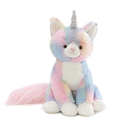 "GUND Rainbow Shimmer Caticorn Stuffed Animal Plush, Multicolor, 9"": Toys & Games"