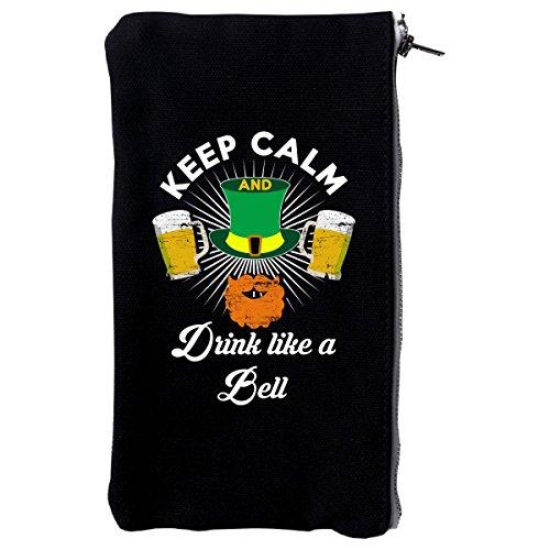 St Paricks Day Irish Keep Calm Drink Like A Bell - Make Up Case (Irish Make Up Bell)