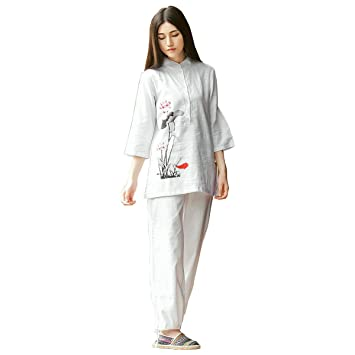 KSUA Traje de meditación Zen para Mujeres Uniforme de Tai ...