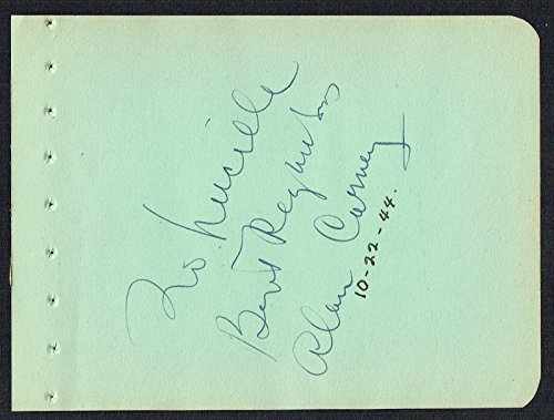 "Alan Carney (d. 1973) signed autograph 4x5 Album Paginate Actor ""Who Was That Lady?"""