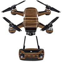 Skin for DJI Spark Mini Drone Combo - Dark Zebra Wood| MightySkins Protective, Durable, and Unique Vinyl Decal wrap cover | Easy To Apply, Remove, and Change Styles | Made in the USA