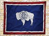 American Decor Fleece Throw Blanket Wyom