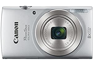 Canon PowerShot ELPH 180 20 MP Digital Camera (Silver) + 32GB Bundle