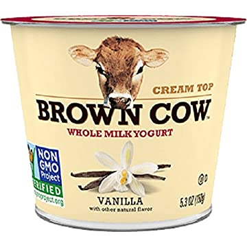 powerful Brown Cow Cream Top Yogurt