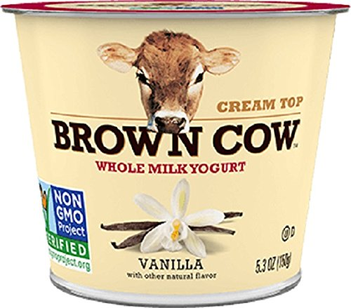 Cream Top Yogurt - Brown Cow Cream Top Yogurt, Vanilla, 5.3 Ounce (Pack of 12)