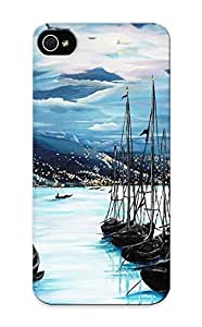 Iphone 6 plus 5.5 Case Cover - Slim Fit Tpu Protector Shock Absorbent Case (moonlight Over Port Of Spain)