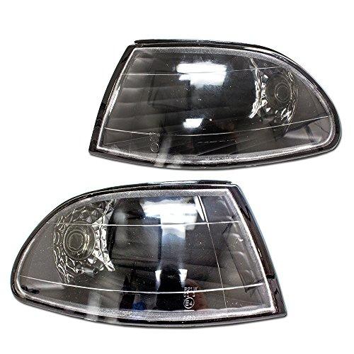 Black Housing Clear Lens Corner Lights for Honda Civic 92-95 2DR ()