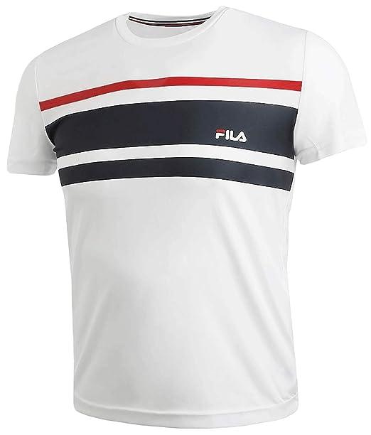 Fila T-Shirt Trey für Herren (weiß): Amazon.de: Bekleidung