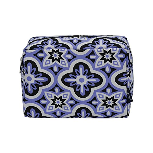 - NGIL Large Travel Cosmetic Pouch Bag Spring 2018 Collection (Quatrofoil Paradise Black)