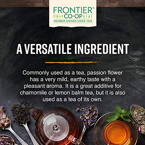 Frontier Co-op Passion Flower Herb, Cut & Sifted, Kosher, Non-irradiated