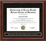 University of Texas Health Science Center at Houston (UTHSC-H) Diploma Frame - Mahogany