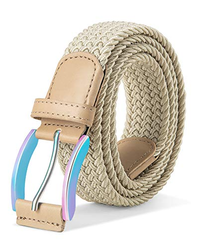 (Stretch Belt Men,Bulliant Mens Woven Stretch Braided Belt 1 3/8,Multicolors)