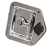 Red Hound Auto Stainless Door Lock Trailer Toolbox RV T Tee Handle Latch 4-3/4'' x 4-7/8'' w Key