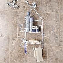 Kenney 2-Shelf Hanging Shower Caddy, White