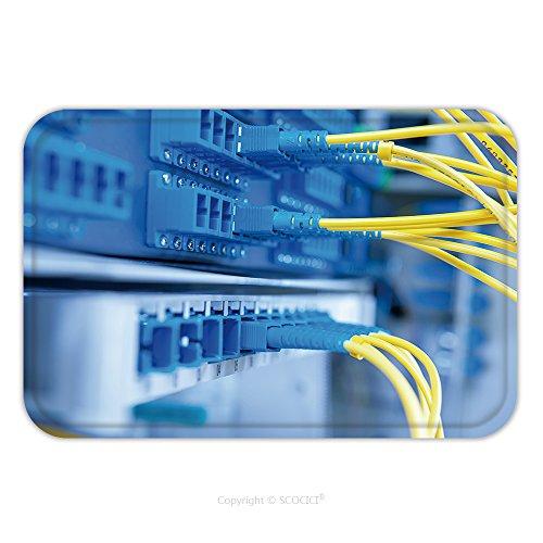Flannel Microfiber Non-slip Rubber Backing Soft Absorbent Doormat Mat Rug Carpet Fiber Optical Network Server 328661153 for - Optical Australia