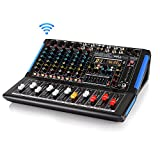 8-Channel Bluetooth Studio Audio Mixer - DJ Sound Controller...