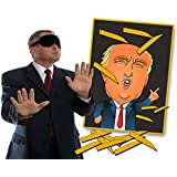 Pin the Toupee on Trump Party Game – Donald Trump Gag Gift – Funny Political Gifts –Bonus Blindfold Mask by Gears Out