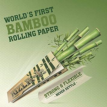 Rizla Bamboo - Papel de liar (tamaño King, papel de bambú) 50 Packs