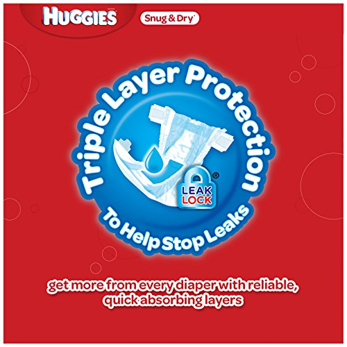 Huggies Snug & Dry Diapers, Size 2, for 12-18 lbs., One Month Supply (222 Count) of Baby Diapers, Packaging May Vary