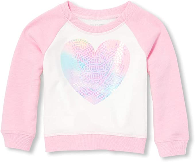 The Childrens Place Baby Girls Long Sleeve Graphic Top