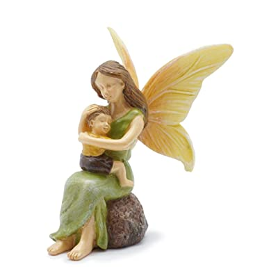 Marshall Home and Garden Cherished Fairy Mother Leaf Green 3 x 3 Resin Stone Collectible Figurine: Home & Kitchen