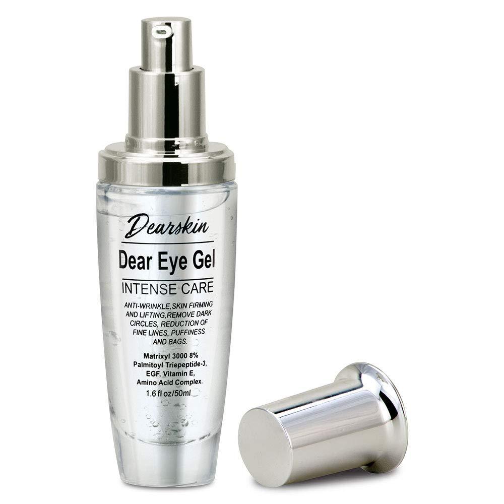 Eye Gel Serum Anti Aging Treatment for Dark Circles, Puffiness, Wrinkles, Eye Lift, Bag Remover Under Eyes, with Matrixyl 3000 8% and Botanical Hyaluronic Acid, Best Natural Formula Fine Line Vegan