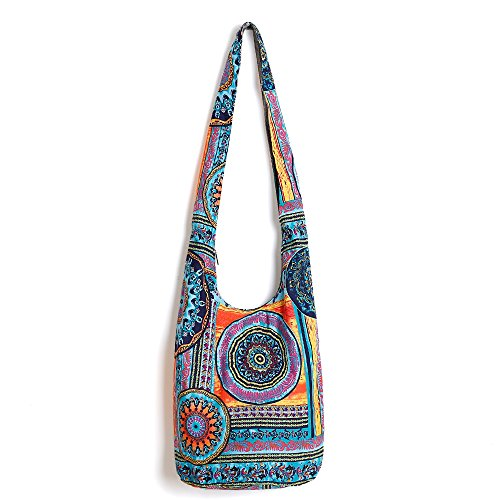 Fabric Hobo Bag - Ethnic Style Bag Lady's Everyday Crossbody Shoulder Bags Women Tourist Cotton Fabric Bag