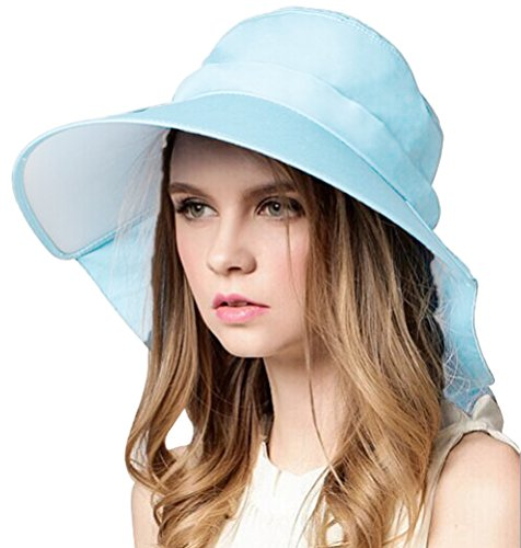 Bienvenu Ladies Sun Visor Wide Large Brim Swimming Beach Sun Hat, Blue (Cool Summer Hats compare prices)