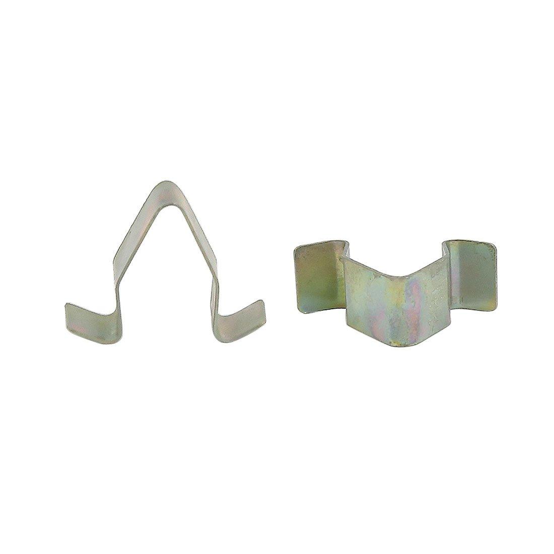 20pcs Voiture Rivet fixation Agrafe trou 11, 5 mm diamètre garniture moulage métal ton bronzé 5 mm diamètre garniture moulage métal ton bronzé sourcing map a16080400ux0332