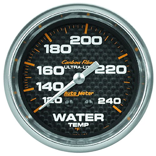 Auto Meter 4832 Carbon Fiber Mechanical Water Temperature -