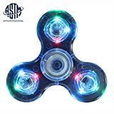 HanTop Fidget Spinner Toy Glow in the Dark LED Spinner Fidget Toys for Adults and Kids (Crystal Blue)