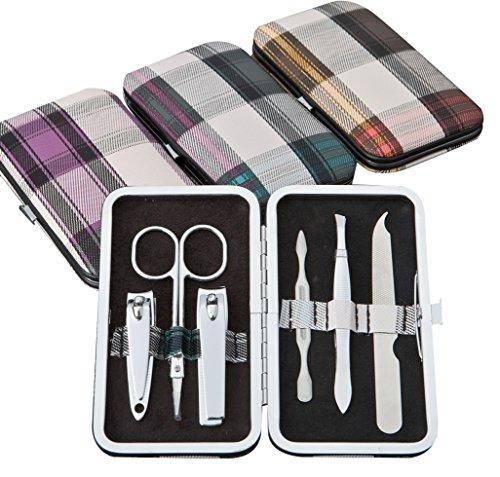 Fashioncraft 12712 Plaid Design Manicure Set