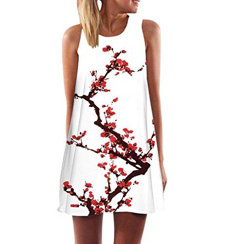Sommerkleider Kurz Damen Ärmellos Kurze Kleider Für Frauen Sommer  Sommerkleid A Linie Etuikleid Chiffon Kurzes Kleid 8e6e4b45cd