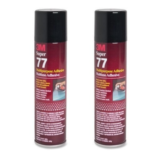 2-cans-3m-super-77-glue-multipurpose-adhesive-for-foil-plastic-paper-foam-metal