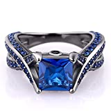 20ct-Princess-Cut-Created-Blue-Sapphire-Engagement-Ring-14k-Black-Gold-Plating-Sterling-Silver-925-Ring