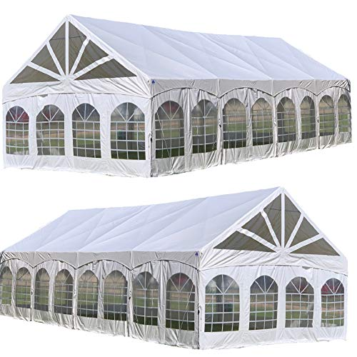 DELTA 40'x20' PVC Marquee - Heavy Duty Large Party Wedding Canopy Tent Gazebo Shelter w Storage Bags Canopies (Pvc Pole Tent)