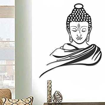 3f5ddc2773f Buy D Y Gautam Buddha Wall Decal Sticker (60cm X 60cm) Online at Low Prices  in India - Amazon.in