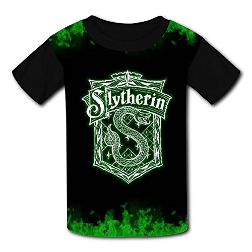 Ravenclaw Student Costume (Slytherin Artist Flag Logo T-shirts for Kids Tee Shirt Tops Short Sleeve Costume Boys Girls)