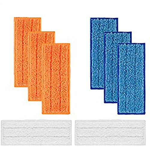 Kitt 8 Packs Detachable Washable Mopping Pads Replacements for iRobot Braava Jet 240 241 (3 Wet Mopping Pads, 3 Damp Sweeping Pads and 2 Dry Sweeping Pads)