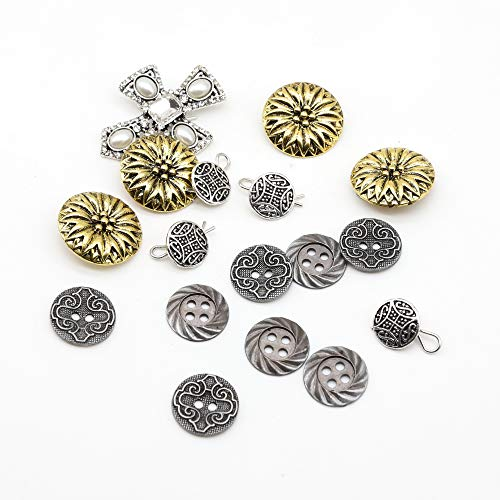 - SHINYTIME Crystal Rhinestone Buttons 4 Pcs flower Clothing Buttons Wedding bouquet accessories Decoration and DIY Crafts 0.8 inch Valentines ideas for her