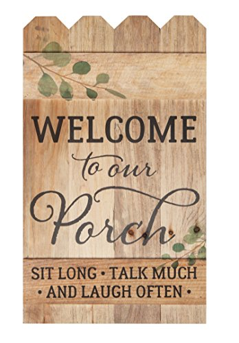 Welcome to Our Porch Natural 14 x 24 Wood Picket Fence Pallet Wall (Picket Fence Wall Decor)