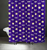 College Covers LSU Tigers Shower Curtain