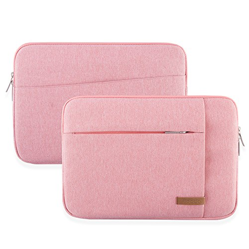 Lacdo 15.6 Sleeve Bag Compatible Aspire/Predator, Toshiba, Dell ASUS HP Lenovo, MSI GL62M, Notebook Case, Resistant, Pink