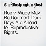 Roe v. Wade May Be Doomed. Dark Days Are Ahead for Reproductive Rights.   Paul Waldman