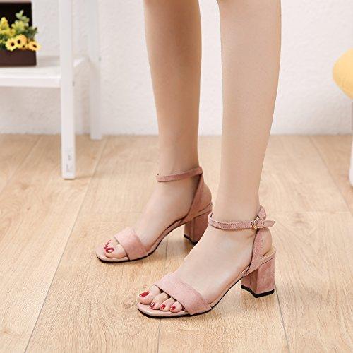ZPPZZP La sig.ra sandali di spessore in stile romano con pendenza con il nero 35EU